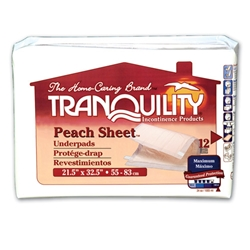 Tranquility Peach Sheet Underpad