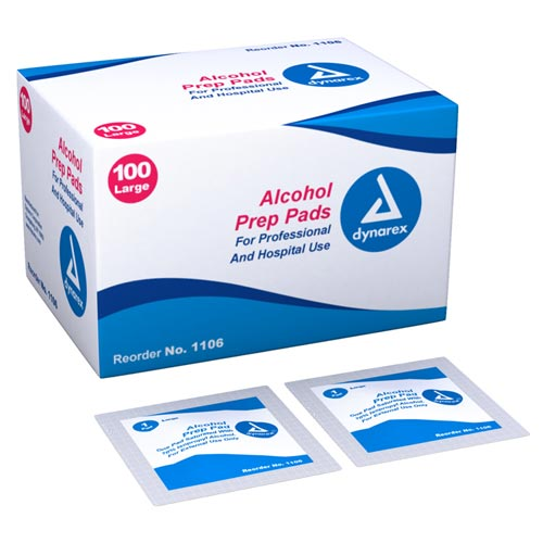 Alcohol Prep Pads Large