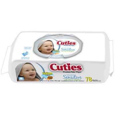 Cuties Baby Wipes Soft Packs Unscented