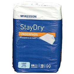 Stay Dry Light Absorbency Underpads