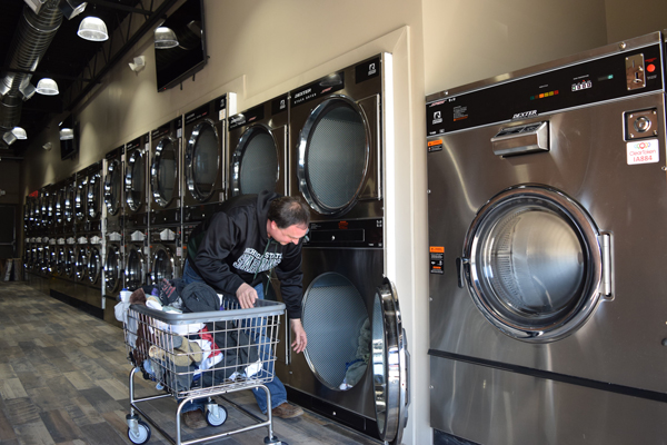 Wash Dry and WiFi Loading Laundry